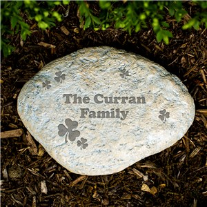 Engraved Irish Family Garden Stone | Personalized Stones