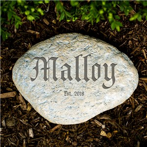 Engraved Family Establishment Garden Stone | Personalized Stones