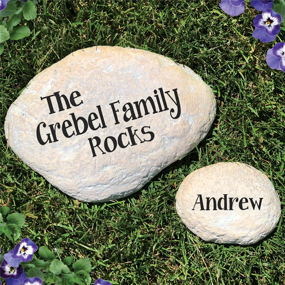 Engraved Family Garden Stone | Personalized Housewarming Gifts