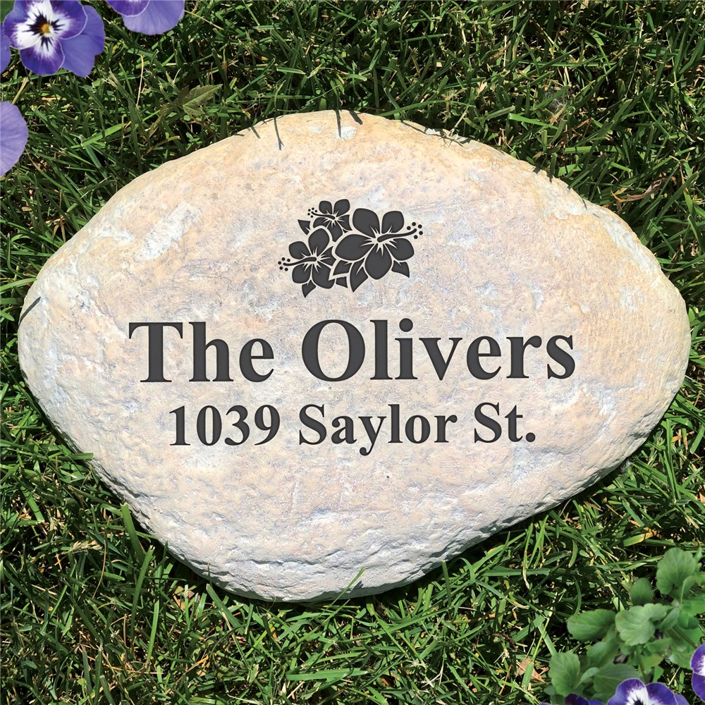 Engraved Family Garden Stone | Personalized Stones