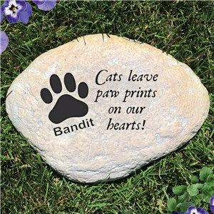 Engraved Cat Memorial Garden Stone | Personalized Stones