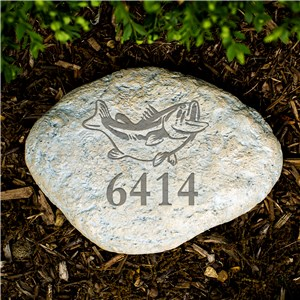 Engraved Fish Garden Stone | Personalized Stones