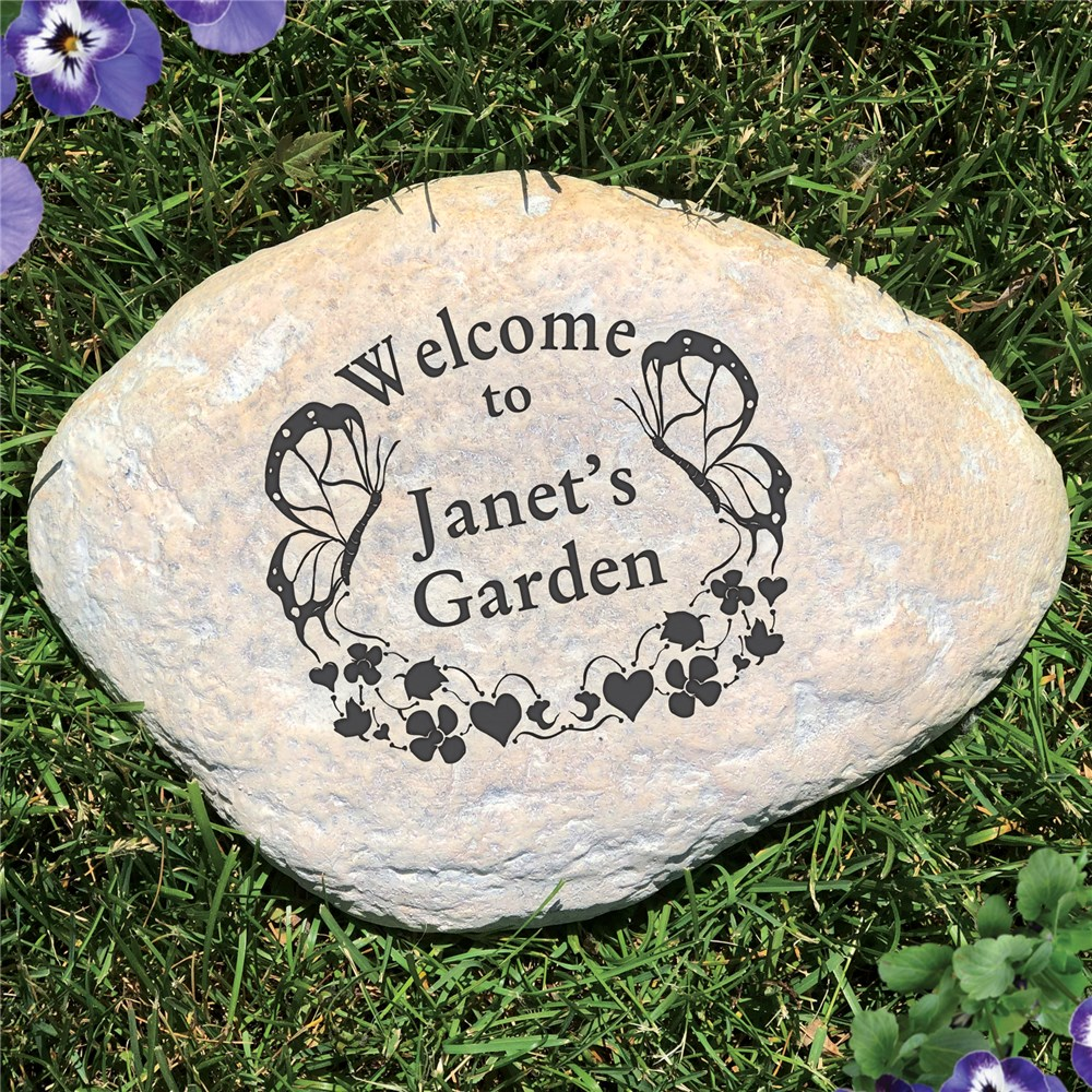 Welcome Garden Stone | Personalized Stones