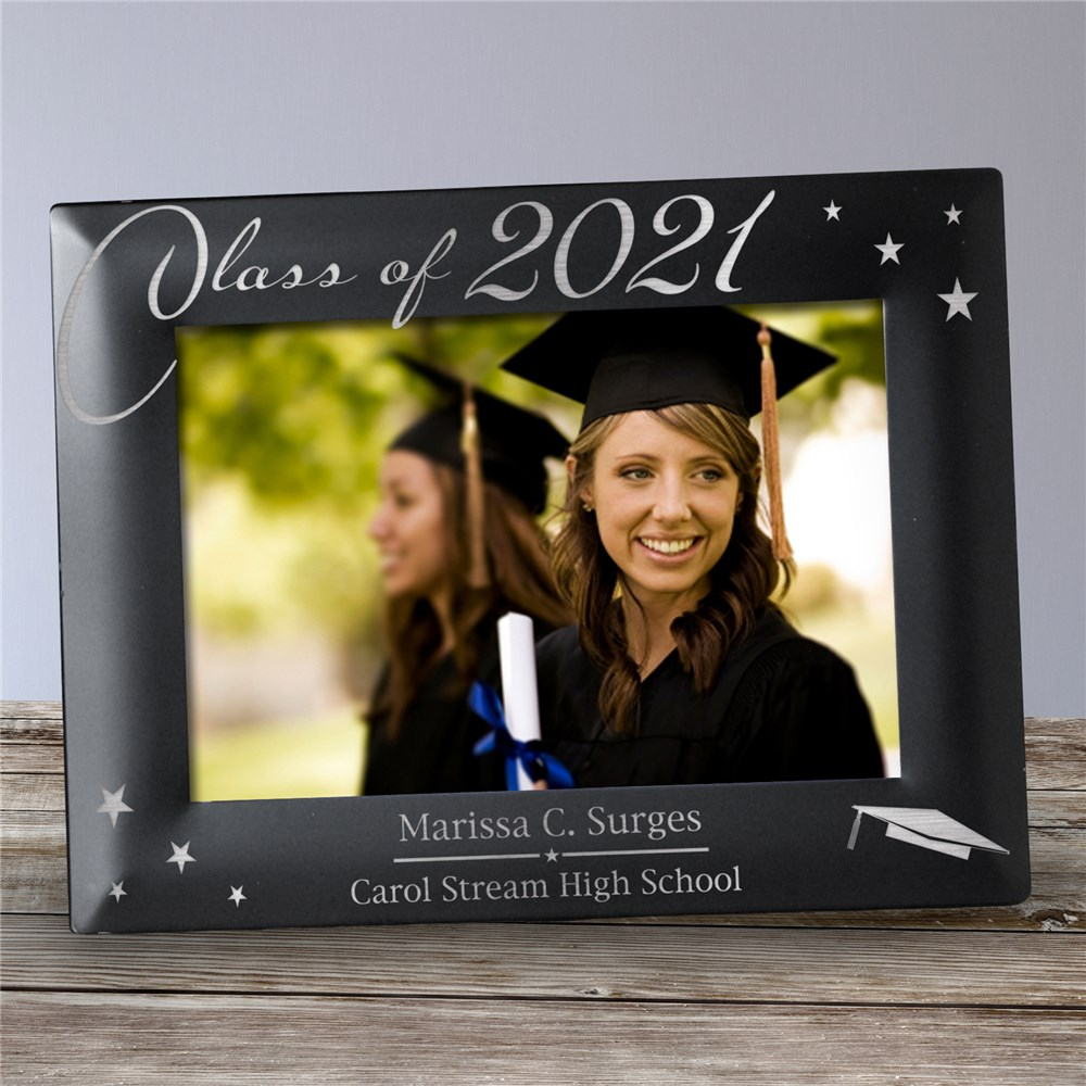 Engraved Black Graduation Picture Frame | Personalized Graduation Gifts