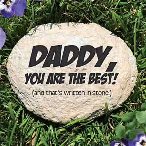 Engraved Father's Day Garden Stone | Personalized Father's Day Gifts