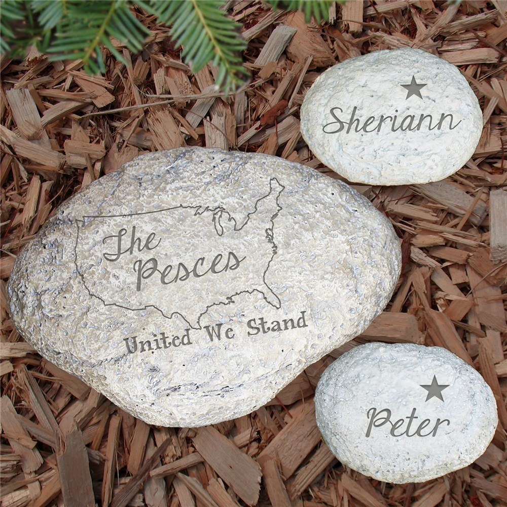 Engraved United Family Garden Stone L59414X