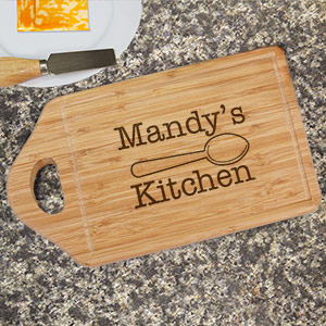 Engraved Kitchen Bamboo Cheese Carving Board L616430