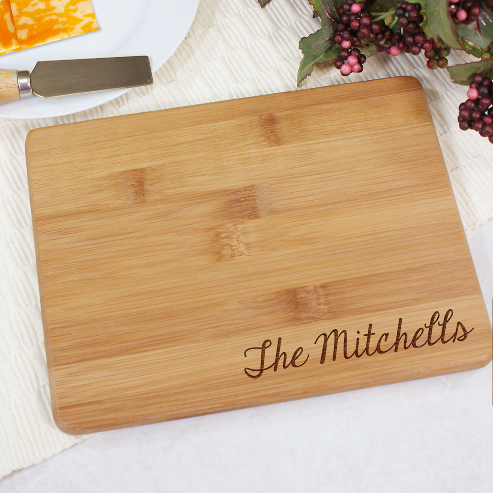 Engraved Bamboo Cheese Board | Personalized Cutting Board
