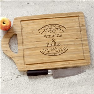 Engraved Established In Bamboo Cheese Carving Board | Personalized Wedding Gifts for Couple