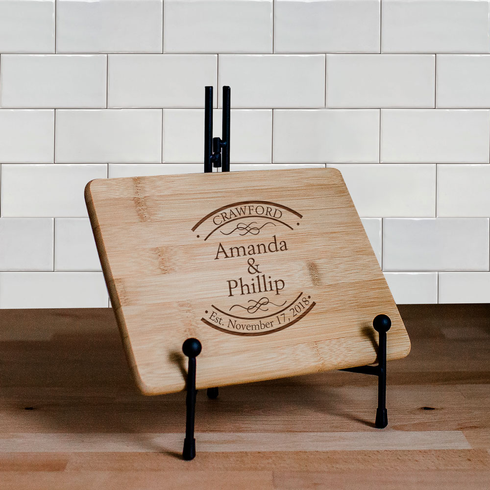 Engraved Established In Bamboo Cheese Board | Personalized Cutting Boards