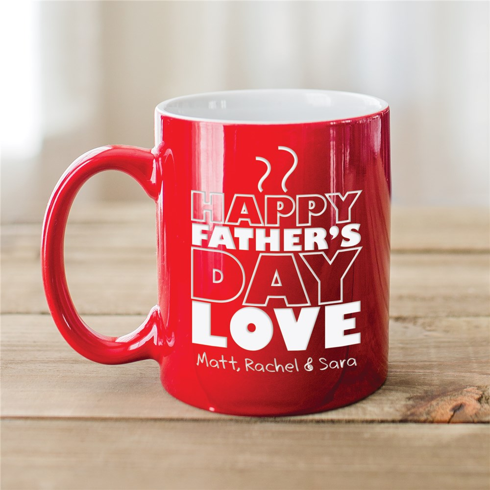 Engraved Father's Day Two-Tone Mug | Coffee Mugs for Dad