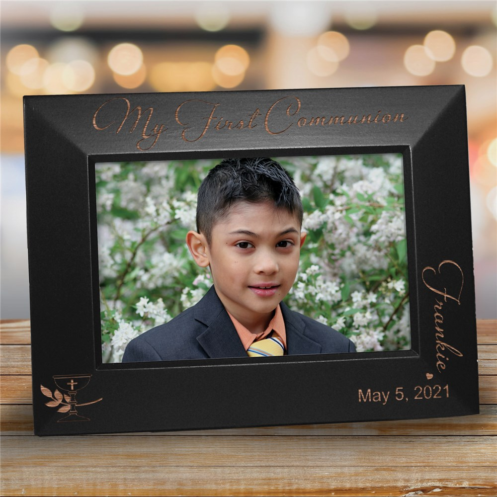 Engraved My First Communion Picture Frame | Personalized Picture Frames