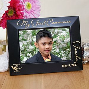 My First Communion Engraved Black Frame