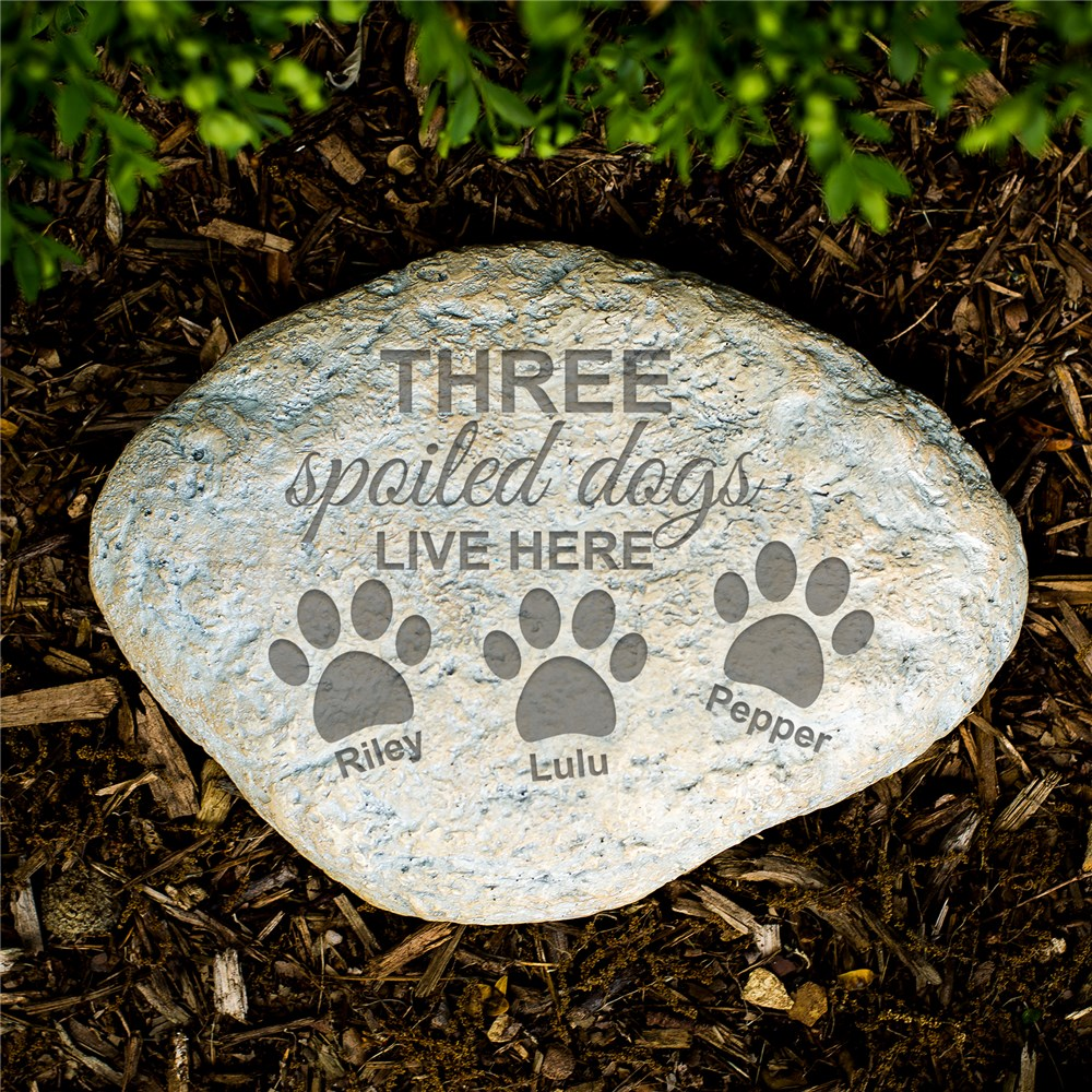 Engraved Spoiled Dog Garden Stone | Personalized Stones