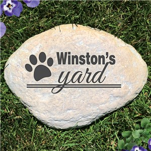 Engraved Dog's Yard Garden Stone | Personalized Stones
