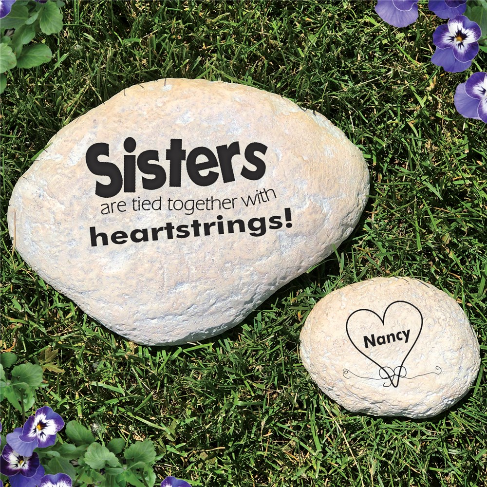 Engraved Sisters Garden Stone | Personalized Sister Gifts
