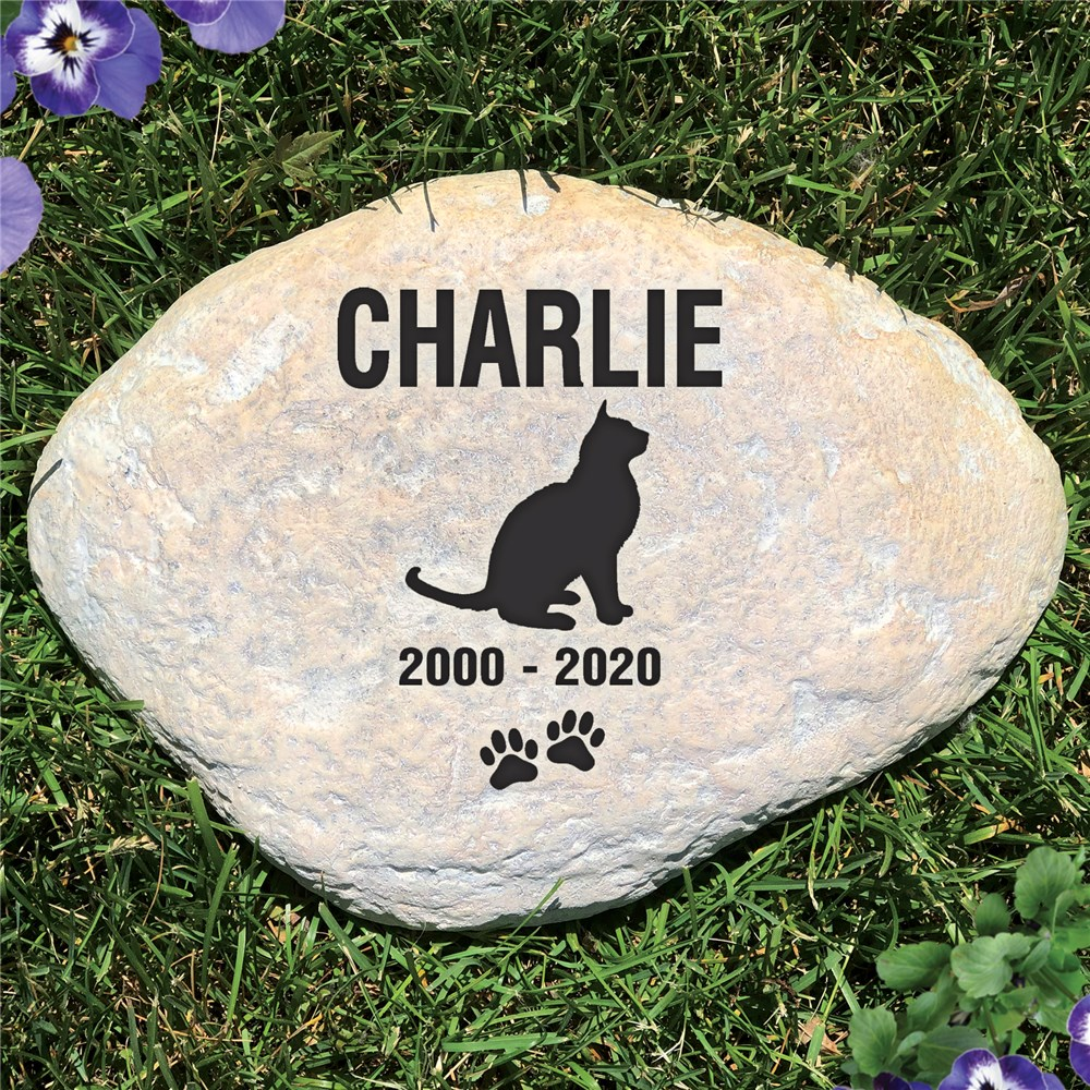 Personalized Cat Memorial Garden Stone | Pet Memorial Stones