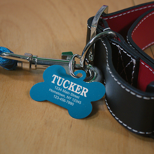 Personalized Carabiner Dog Bone Tag L716165X