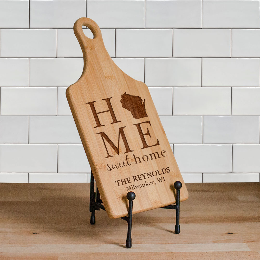 Engraved Home Sweet Home Cutting Paddle Board | Personalized Cutting Boards
