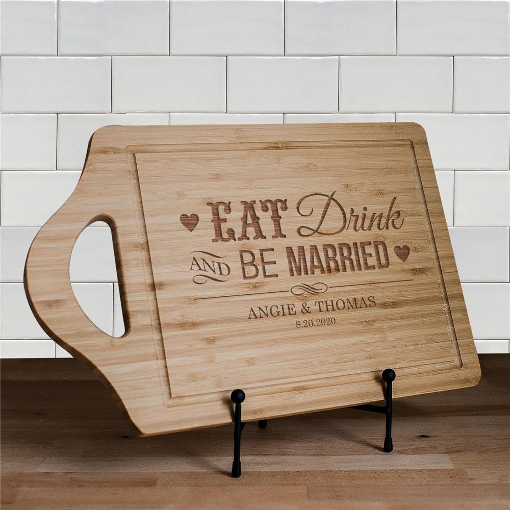 Engraved Be Married Chef Carving Board | Personalized Wedding Gifts for Couples