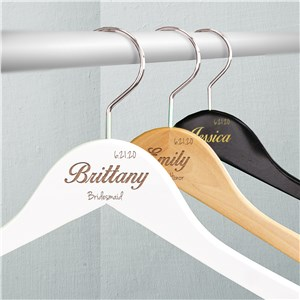 Engraved Bridal Party Hangers | Unique Bridesmaid Gifts