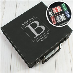 Initial Poker Set | Portable Poker Set