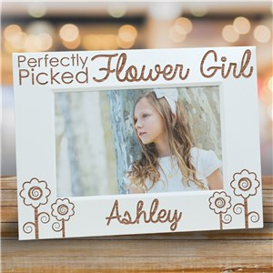 Engraved Flower Girl Picture Frame | Personalized Picture Frames