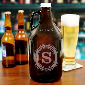 Engraved Groomsmen Growler | Personalized Groomsmen Gifts