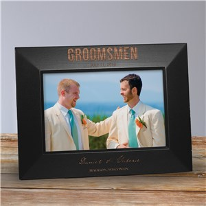 Engraved Bridal Party Black Frame | Personalized Picture Frames