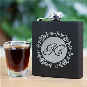 Engraved Initial Steel Flask | Personalized Bridesmaid Gifts