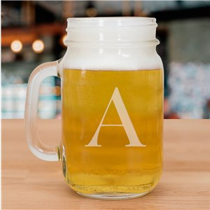 Engraved Initial Mason Jar | Personalized Bar Gifts