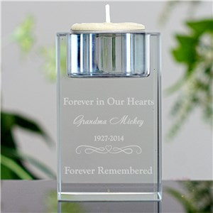 Engraved Memorial Candle Holder