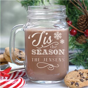 Personalized Holiday Mason Jar L802771