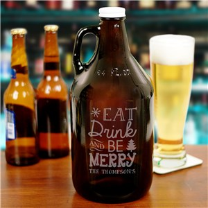 Personalized Christmas Beer Growler | Gifts For Beer Lovers
