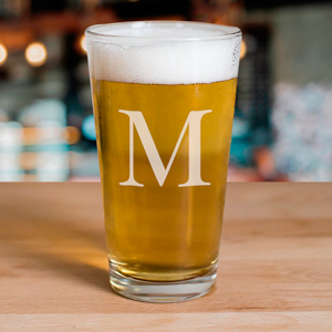 Engraved Initial Beer Glass | Personalized Father's Day Gifts