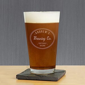 Engraved Beer Company Beer Glass