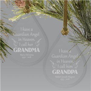 Angel In Heaven Glass Memorial Ornament | Memorial Christmas Ornaments