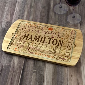 Personalized Family Name Word Art Serving Tray
