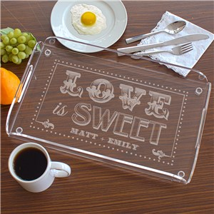 Engraved Couples Serving Tray | Romantic Home