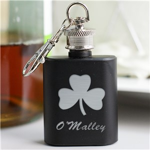Mini Black Flask for St. Patrick's Day | Engraved Flasks