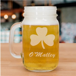 Engraved Glass Irish Mason Jar L934571
