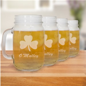 Irish Mason Jar Set | Irish Glassware
