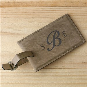 Monogram Leather Luggage Tag | Father's Day Gift Ideas