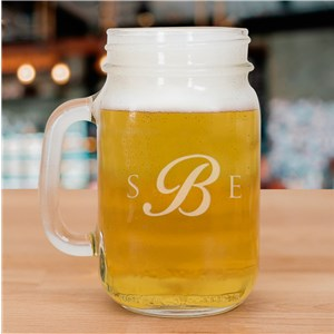 Monogram Mason Jar | Personalized Mugs