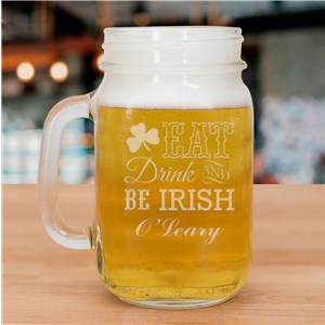 Shamrock Irish Mason Jar L934671
