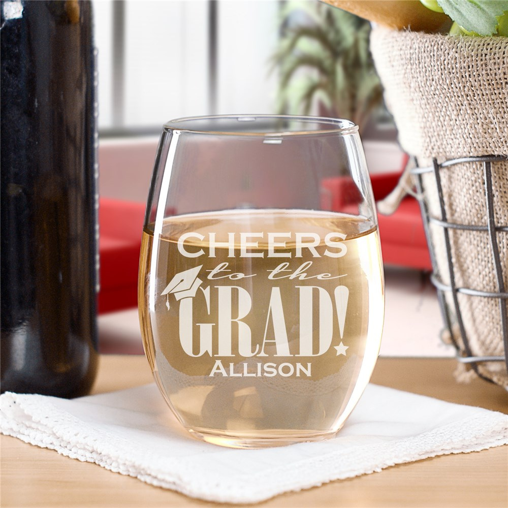 Engraved Graduation Wine Glass | Graduate Gifts