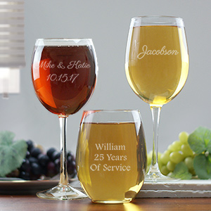 Any Message Wine Glass | Personalized Aunt Gifts