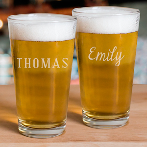 Engraved Any Name Beer Glass | Engraved Barware
