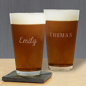 Engraved Any Name Beer Pint  Glass