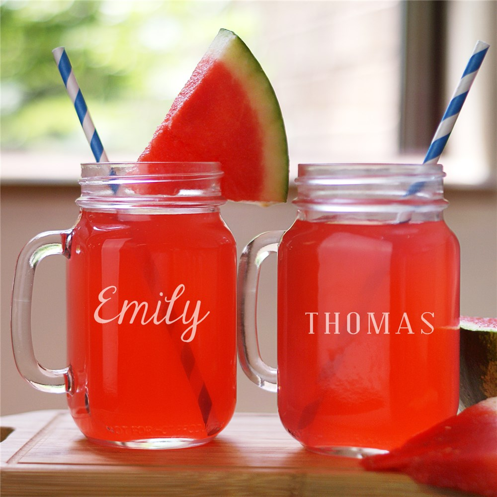 Any Name Engraved Mason Jar | Personalized Barware